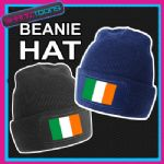 BEANIE HAT IRELAND IRISH FLAG EMBLEM DESIGN